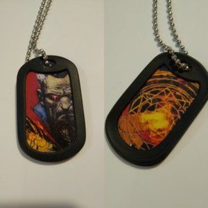 Doctor Strange Double Sided Dog Tag w/Chain NWT